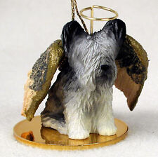 Skye Terrier Ornament Angel Figurine Hand Painted