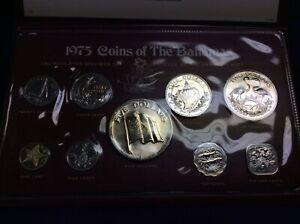 1975 Coins Of The Bahamas Uncirculated Set COA