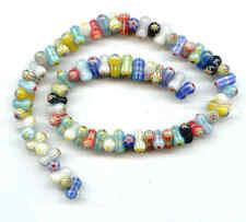 NEW Millefiori Glass Beads-6X12mm peanuts 72+ LK02