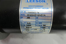 USED LEESON CIM24D18NC1A DIRECT CURRENT MAGNET MOTOR