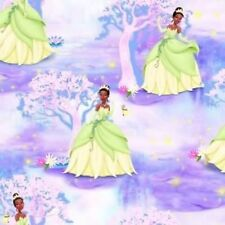 Fat Quarter Disney Princess Tiana and Frog Cotton Quilting Fabric - 50 x 55cm