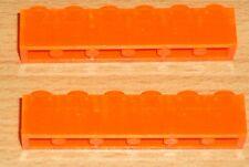 Lego 2 Steine 1 x 6 in transparent orange / rot