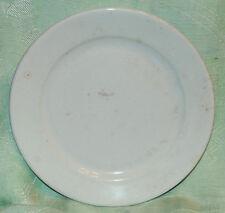 RARE HTF WHITE IRONSTONE PLATE ISAAC DAVIS PROSPECT HILL POTTERY CIRCA 1875-80