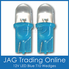 PAIR 12V T10 BLUE LED WEDGE DOME GLOBES - Automotive/Caravan/Car/Truck HID LOOK
