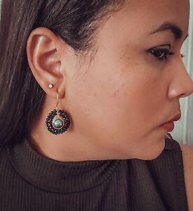 Black Drop Earrings Pearl Drop Onyx Earrings Earrings For Mom Mothers Day Gift