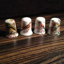 Thimbles - Set of 4, Birds - Made in Britain (b36)