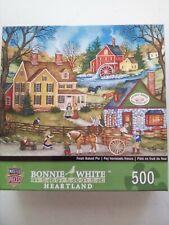 "BONNIE WHITE HEARTLAND 500 PIECES FRESH BAKED PIE MASTER JIGSAW PUZZLES 21""×15"""