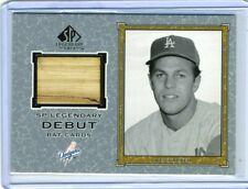 Wes Parker 2001 UD SP Legendary Cuts Debut Game Used Bat Card
