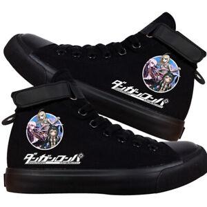 Anime Danganronpa lässige Paar Segeltuchschuhe Klett-High Top Schuhe Sneaker