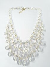 J.Crew GOLD Clear Bauble cascade necklace NWT 98 EXTREME RARE FIND 90032