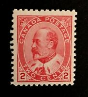 Canadian Stamp, Scott #90 2c 1903 - PSE GC F 70 M/NH. Fresh early issue.
