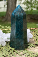 90g BEAUTIFUL BLUE/GREEN APATITE CRYSTAL POLISHED HEALING WAND Reiki  NORWAY