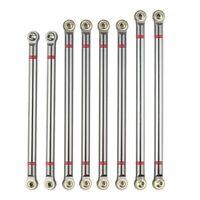 8Pcs Wheelbase Link Rod Aluminum Alloy Link Rod 313Mm for 1/10 Rc Car Crawle W5E