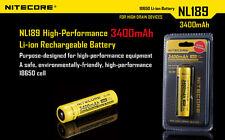 NITECORE 18650 NL189 3400mah 3.7V Rechargeable Battery Li-ion PCB Protected