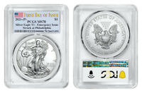 2021 (P) AMERICAN EAGLE $1 EMERGENCY ISSUE PCGS MS70 PHILADELPHIA FDOI FLAG