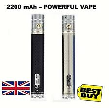 E Cig Authentic Shisha Ego Coded 2200mah battery VV Battery Black/Silver⭐VALUE