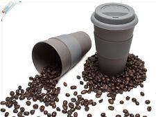 Magu Kaffeebecher To Go 330ml - Kaffee To Go Becher schwarz - Thermobecher Natur