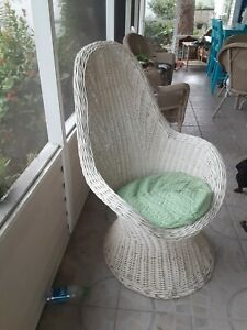 Wicker chairs used