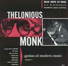 THELONIOUS MONK GENIUS OF MODERN MUSIC VOLUME ONE REMASTERED CD NEW