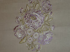 "SANDERSON CURTAIN FABRIC DESIGN ""Nanine"" 9.2 METRES EMBROIDERED DESIGN LAVENDER"