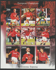Abkhazia 6318 - 1999 MANCHESTER UNITED FOORBALL imperf sheet of 9 unmounted mint