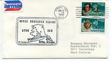 1990 Sitka Alaska Woodrush Airmail Polar Antarctic Cover