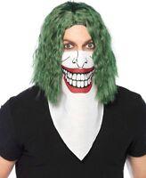 Villain Bandana Face Cover Biker Evil Joker Adult Unisex Costume Accessory New