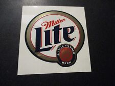 "MILLER LITE Foil Logo pilsner 2.75"" STICKER decal craft beer brewery brewing"