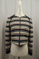 $328 Rebecca Minkoff Womens Crop Blazer Sz 4 Full Zip Jacket Coat Leather Small
