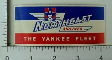 1940's-50's Northeast Airlines The Yankee Fleet Luggage Label Poster Stamp E2