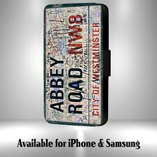 The Beatles Westminster Abbey Road Sign Faux Leather Flip Phone Case M35i