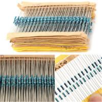 300PCS 30 Values 1/4W 1% Metal Film Resistors Resistance Assortment Set Lot CN