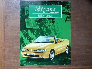 CATALOGUE RENAULT MEGANE CABRIOLET Année 1997