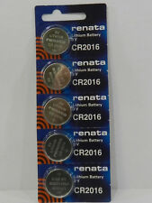 RENATA  CR2016 Lithium Batery 3Volt   - 5Pc