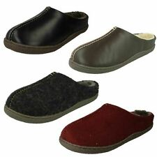 Men's Clarks Mule styled Warm Slip On Slippers - Relaxed Style