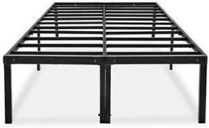 18 Inch Full Bed Frame No Box Spring Needed Metal Platform Bedframe with Storage