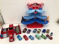 Fisher Price Disney Pixar Cars Spiral Grand Prix Mack Truck 13 x Die Cast Bundle