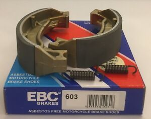 EBC REAR Brake Shoes (S603) (1 Pair) fits Suzuki RV125 Van Van (2002 to 2018)