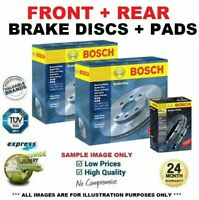 BOSCH FRONT + REAR BRAKE DISCS & PADS SET for KIA SPORTAGE 2.0 16V 4WD 2004->on