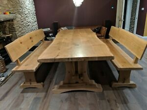 Pippy Oak Dining Table And Benches