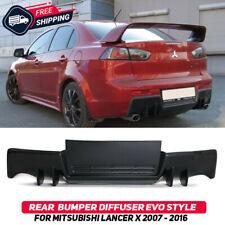 Rear Bumper Diffuser For Mitsubishi Lancer X 07-16 EVO Style Pad Lip Body Kit