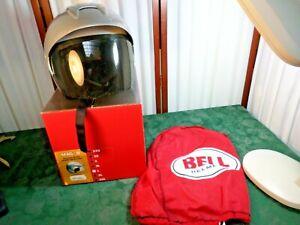 Bell Mag 8 Silver Metallic Motorcycle Helmet w/Light Smoked Shield/Bag/Box-Large