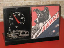 Soviet Russian Model Barometer Space Cosmonaut Dogs Laika Layka Belka Strelka