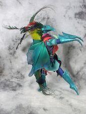 Vintage 1997 Betty Nelson Daniel Mockingbird Bird Doll Sculpture Signed Blue