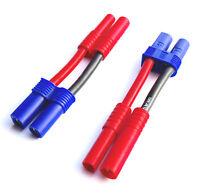 4mm HXT Stecker Buchse auf EC5 Buchse Lipo Akku Battery Adapter Ladekabel 12AWG