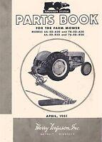 Massey Ferguson 6A-EO-A20 7A-EO-A20 6A-EO-B20 7A-EO-B20 Mower Parts Book Manual