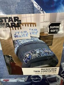 NEW STAR WARS CLASSIC MICROFIBER TWIN FULL REVERSIBLE COMFORTER