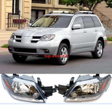 2X FitFor MITSUBISHI Outlander 2003-2005 Front Head lamp Headlights Assembly Set