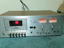 Vintage Akai Stereo Cassette Player/Recorder As Is For Parts Or Repair 1977-1978