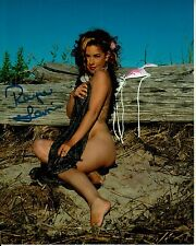 RAYNE LEMIRE hand-signed NUDE BEACH 8x10 COLOR CLOSEUP PORTRAIT w/ uacc rd COA